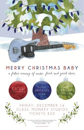 TONIGHT! Merry Christmas Baby! With Crissi Cochrane and Mike Hargreaves – Music & Poetry