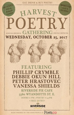 Harvest Poetry Reading This Wednesday!