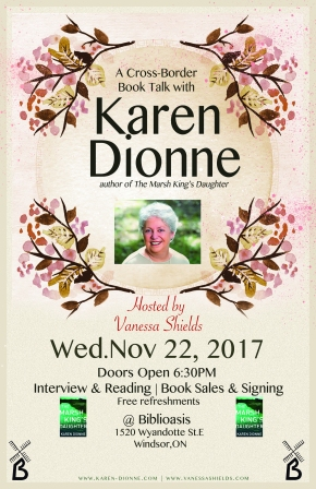 An Interview with Author Karen Dionne & Event Info!