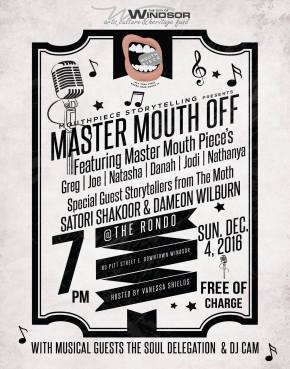 MOUTH PIECE STORYTELLING – MASTER MOUTH-OFF THISSUNDAY!