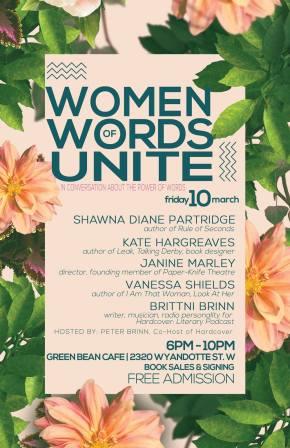 Women of Words Unite – panel event tomorrownight!