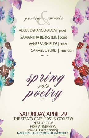National Poetry Month – Toronto Bound!