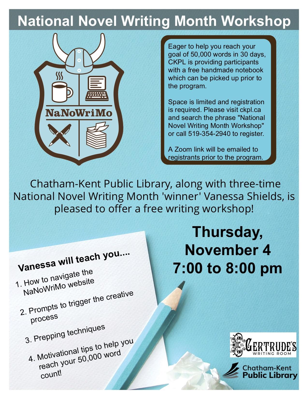 National Novel Writing Month Poster